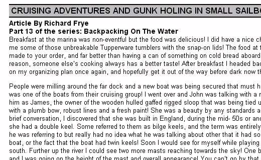 Backpacking On The Water - Part 13